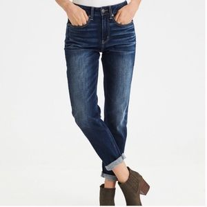 American Eagle Hi-Rise Girlfriend Button Fly Jeans